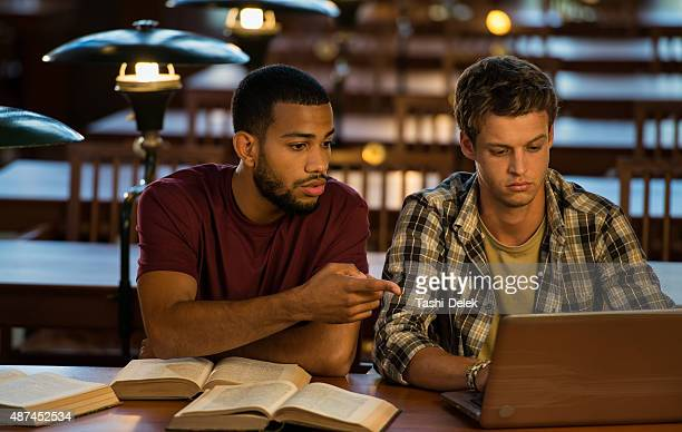 Two University Student In Library