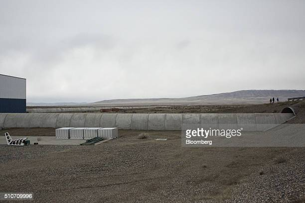 Two vacuum chambers each measuring four kilometers in length are seen at the Laser Interferometer GravitationalWave Observatory at the Hanford Site...
