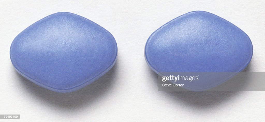 Two Viagra pills, used as treatment for male erectile dysfunction