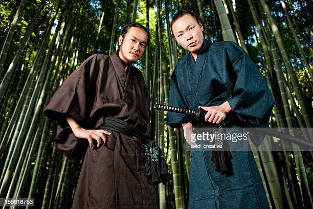 Two Warriors in Bamboo