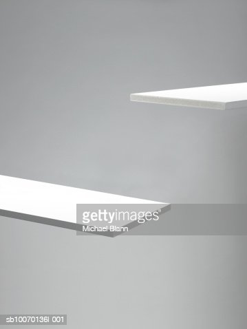 Two white planks, close-up