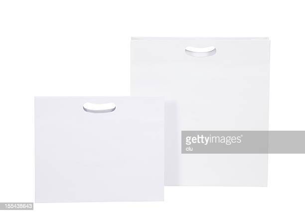 Two white shopping bags