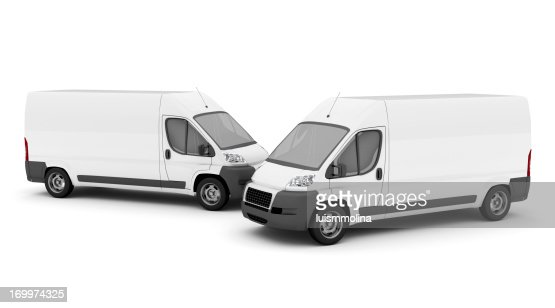 Two White Vans