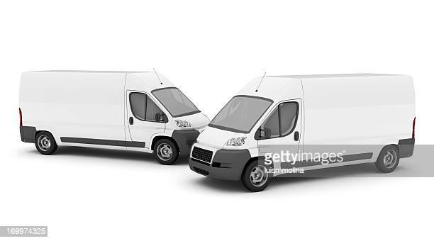 Deux bus blancs