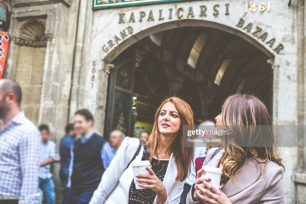 Two Woman At The Grand Bazaar. Istanbul, Turkey,