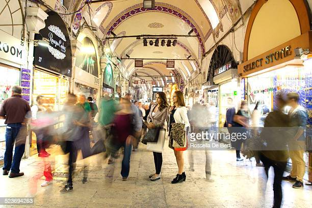 Two Woman Going Shopping At The Grand Bazaar. Istanbul, Turkey,