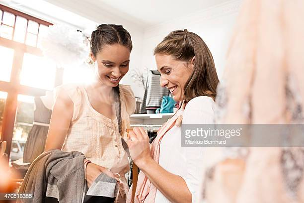 Two woman shopping together.