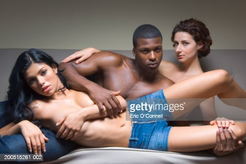 exciting two men on one woman
