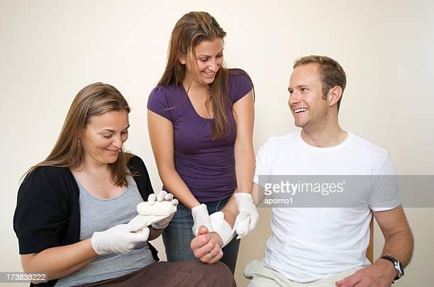 Erste-Hilfe-bandage Praxis