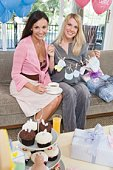 Two Women at a Baby Shower