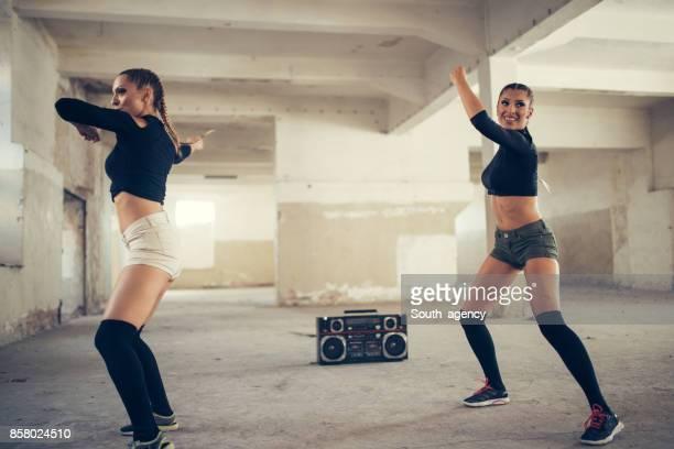 Two women dancers