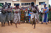 Two women dancing at Igname (yam) festival.