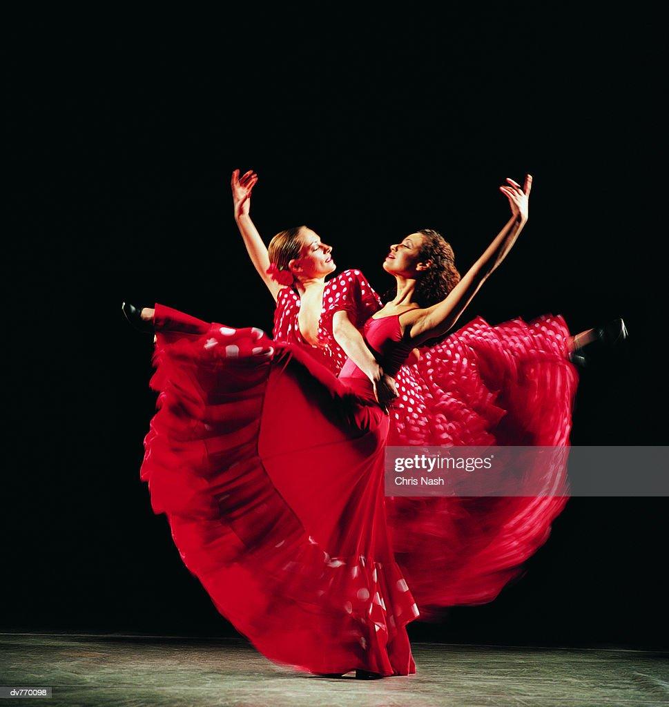 Two Women Dancing the Flamenco