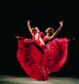 Two Women Dancing the Flamenco