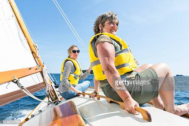 Two Women Enjoy a Day of Sailing