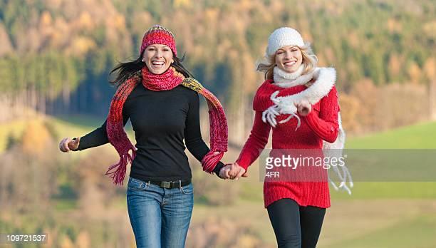 Two Women enjoying this beautiful Fall Day (XXXL)