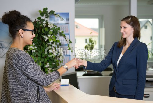 Two women greet each other stock photo thinkstock two women greet each other stock photo m4hsunfo