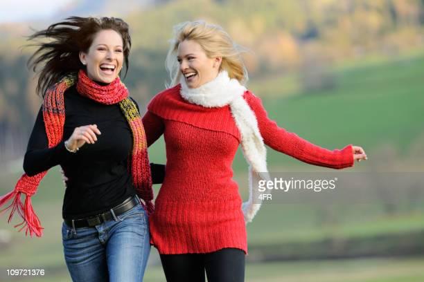 Two Women having Fun Outdoor (XXXL)