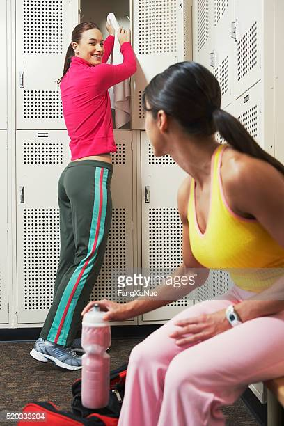Two women in a locker room
