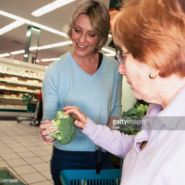 Two Women in Supermarket