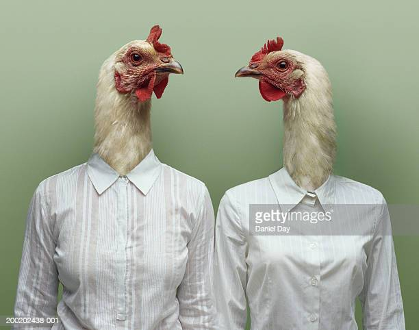 Two women metamorphosised into hens (Digital Composite)