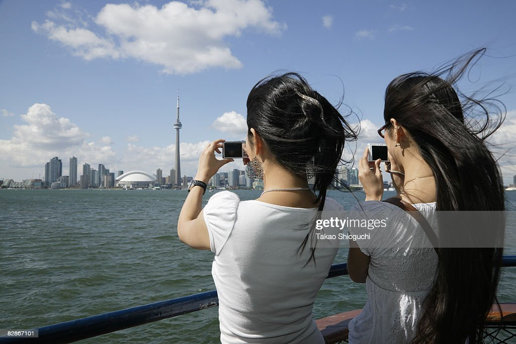 Two women on ferry : Stock Photo