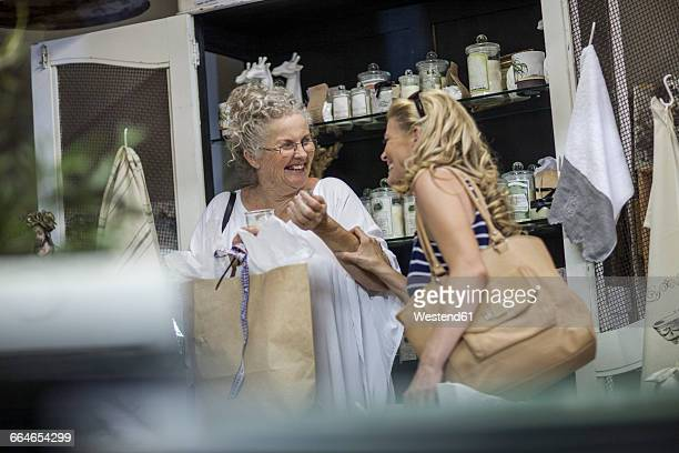 Two women shopping in vintage store