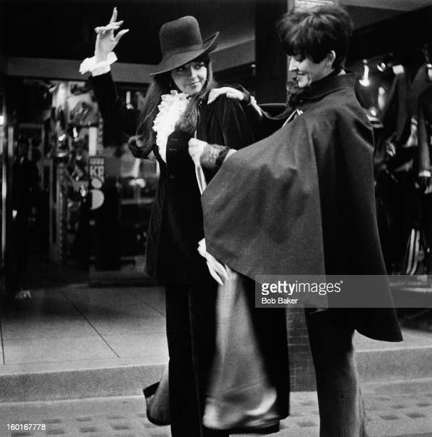 Two women wearing outfits from the Take 6 boutique Wardour Street Soho London 1965