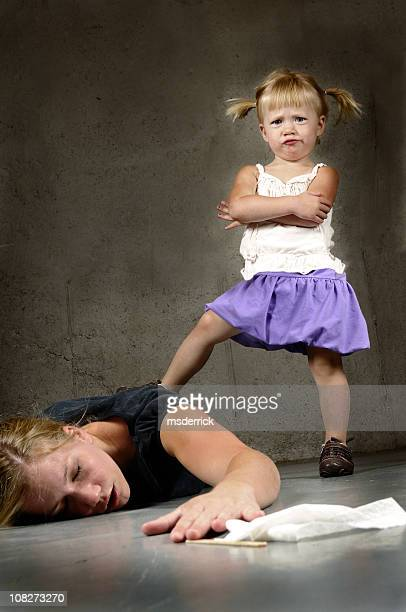 A two year old having a tantrum over her mother
