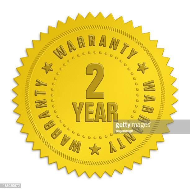Etichetta di garanzia di due anni