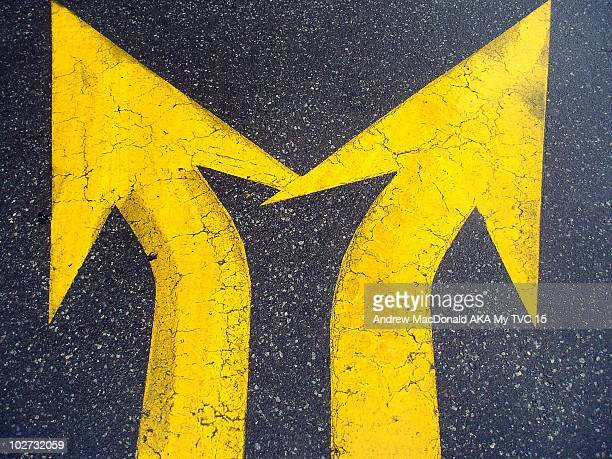 Two yellow arrows