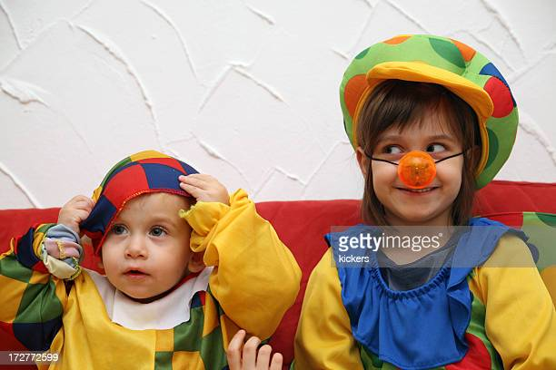 Two young clowns