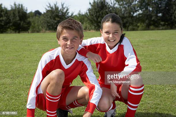 Two young footballers