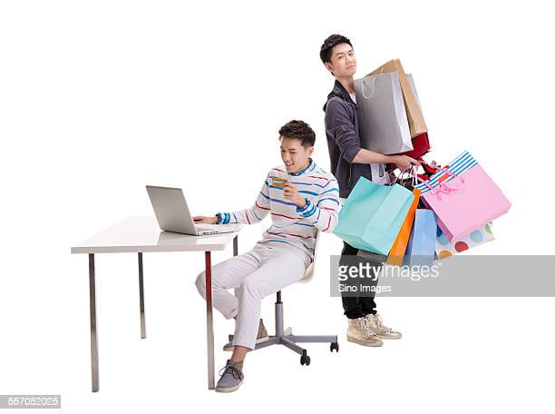 Two Young People Shopping
