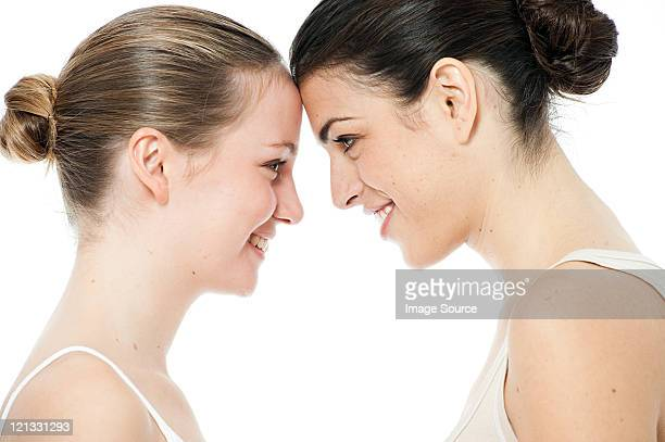Two young women face to face