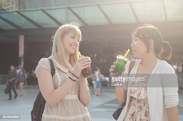 Two young women friends