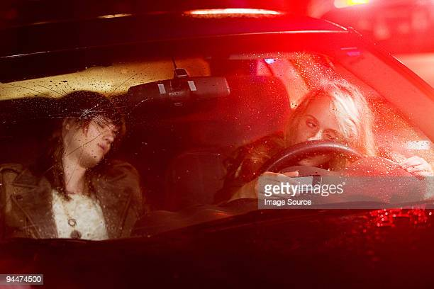 Two young women in a car accident