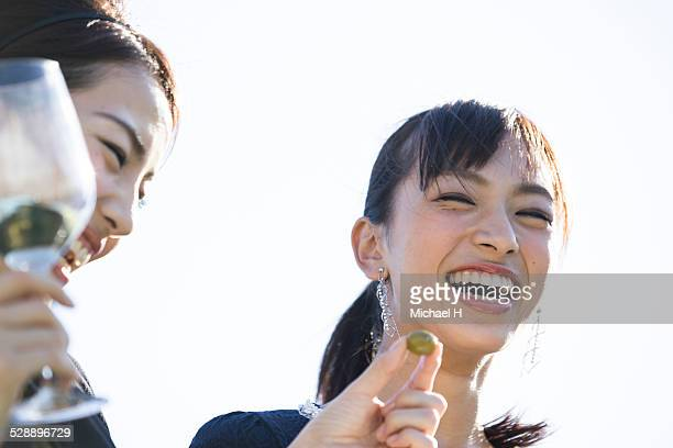 two young women with big smile