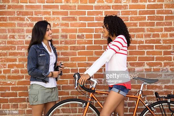 TwoFriends Meet in the Street