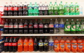 Twoliter bottles of regular and diet soda are seen for sale at a Manhattan store on May 31 2012 in New York City New York City Mayor Michael...