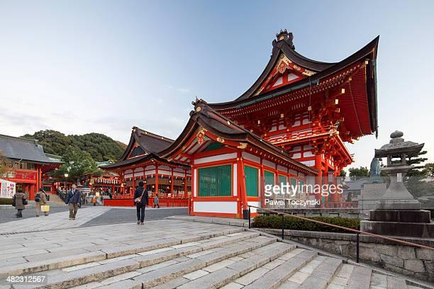 Two-storied gate to Fushimi Inari shrine