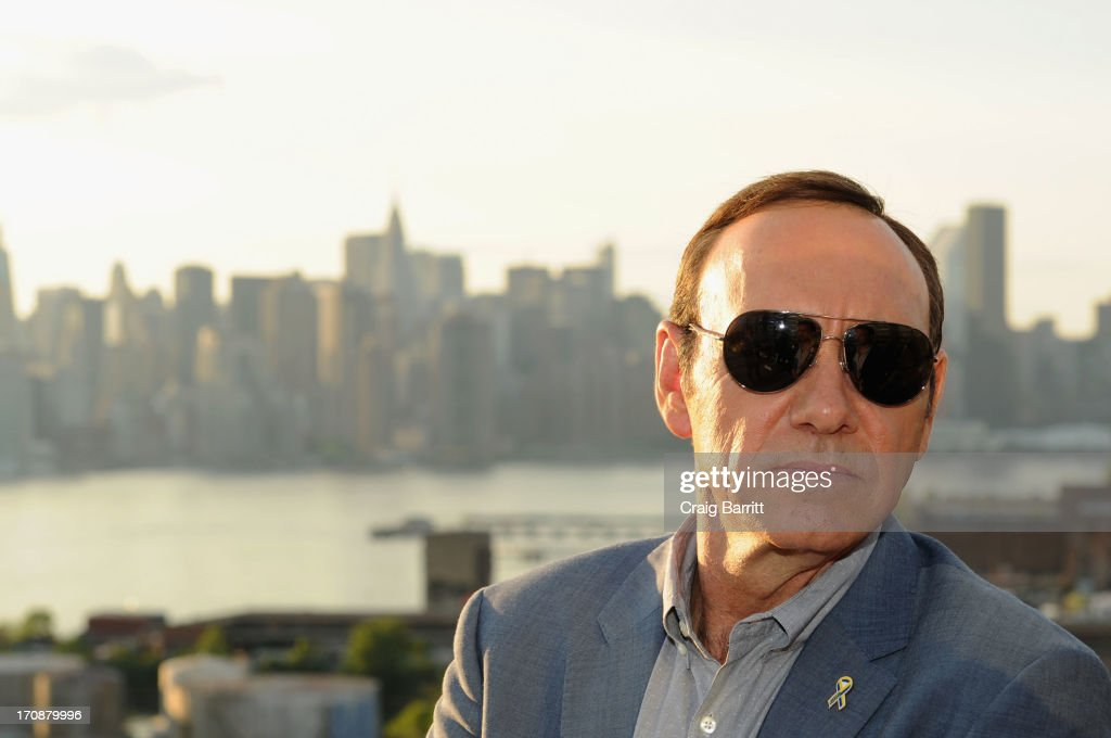 Two-time Academy Award-winning actor <a gi-track='captionPersonalityLinkClicked' href=/galleries/search?phrase=Kevin+Spacey&family=editorial&specificpeople=202091 ng-click='$event.stopPropagation()'>Kevin Spacey</a> attends the premiere of Love's Routine, the winning US film from the Trigger Street Productions Presents Jameson First Shot competition at Wythe Hotel on June 19, 2013 in Brooklyn, New York.