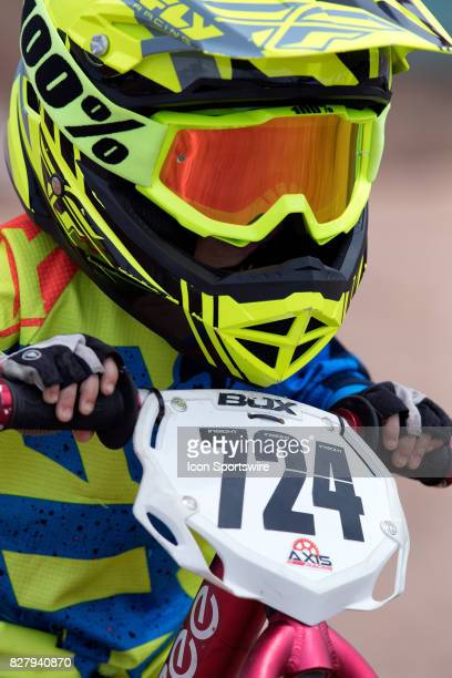 Twoyear old Landon RyanTrasp competes in the 12 Balance Bike class at the USA BMX Mile High Nationals on August 5 at Grand Valley BMX in Grand...