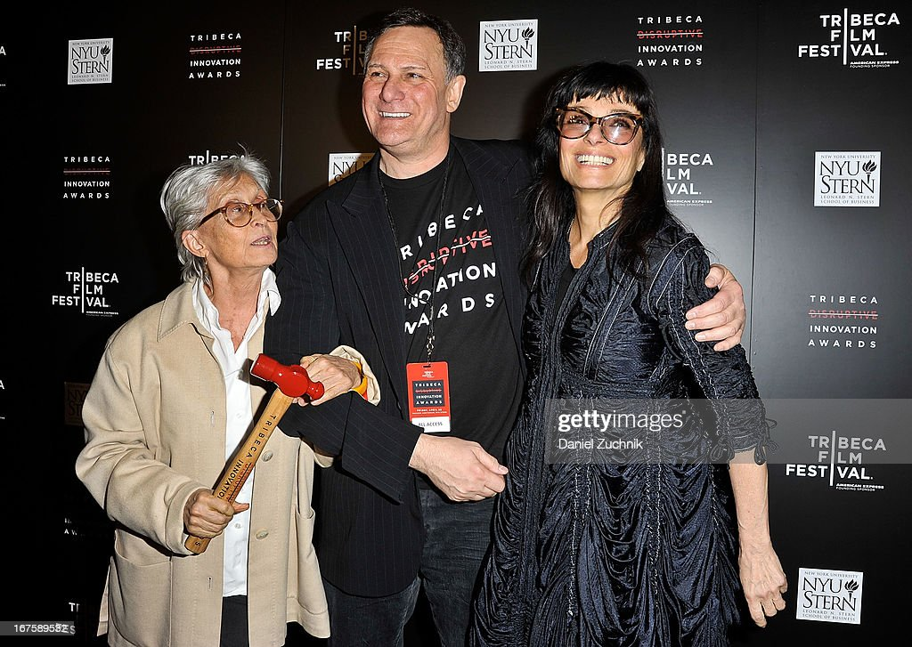 <a gi-track='captionPersonalityLinkClicked' href=/galleries/search?phrase=Twyla+Tharp&family=editorial&specificpeople=240431 ng-click='$event.stopPropagation()'>Twyla Tharp</a>, <a gi-track='captionPersonalityLinkClicked' href=/galleries/search?phrase=Craig+Hatkoff&family=editorial&specificpeople=206849 ng-click='$event.stopPropagation()'>Craig Hatkoff</a> and Norma Kamali attend the 4th annual Tribeca Disruptive Innovation Awards during the 2013 Tribeca Film Festival at NYU Paulson Auditorium on April 26, 2013 in New York City.