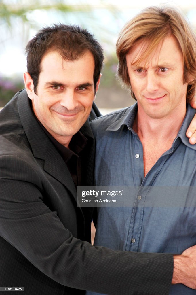 Ty Burrell and Jack Weber during 2004 Cannes Film Festival 'Dawn Of The Dead' Photocall at Palais Du Festival in Cannes France