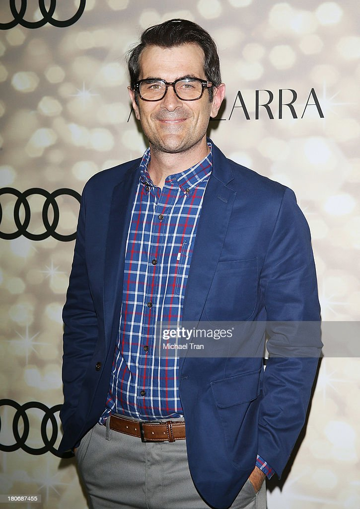 <a gi-track='captionPersonalityLinkClicked' href=/galleries/search?phrase=Ty+Burrell&family=editorial&specificpeople=700077 ng-click='$event.stopPropagation()'>Ty Burrell</a> arrives at the Audi and Altuzarra EMMYs week 2013 kick-off party held at Cecconi's Restaurant on September 15, 2013 in Los Angeles, California.
