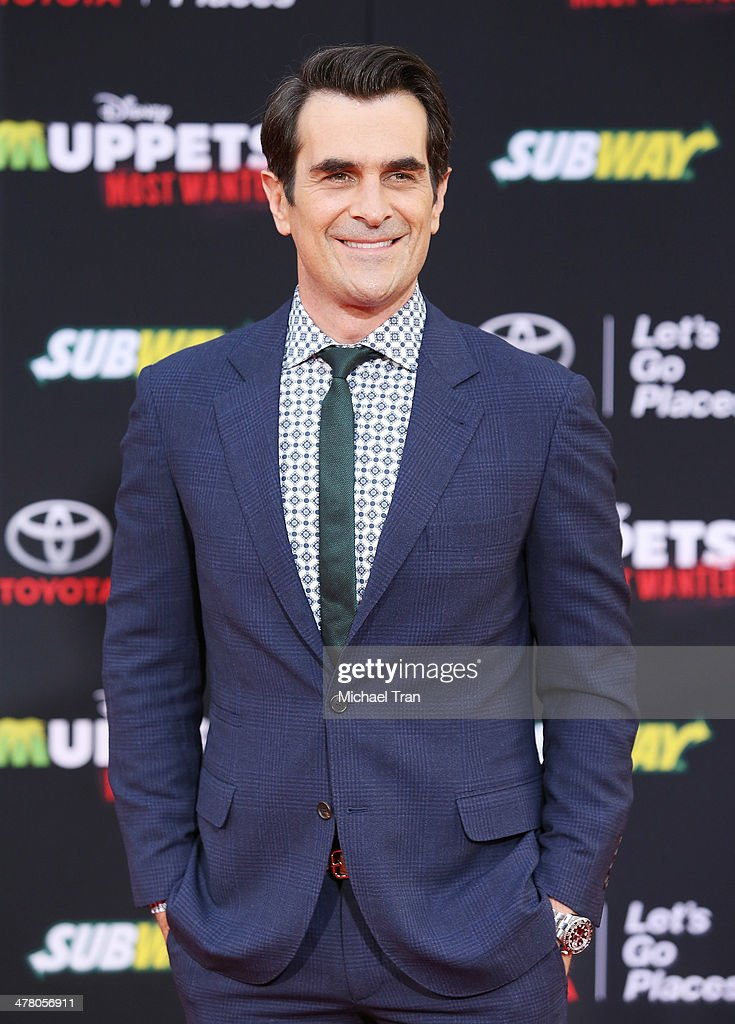 Ty Burrell arrives at the Los Angeles premiere of 'Muppets Most Wanted' held at the El Capitan Theatre on March 11 2014 in Hollywood California
