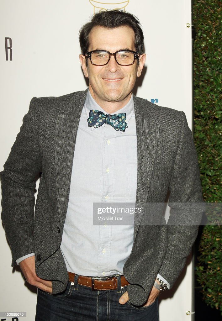 <a gi-track='captionPersonalityLinkClicked' href=/galleries/search?phrase=Ty+Burrell&family=editorial&specificpeople=700077 ng-click='$event.stopPropagation()'>Ty Burrell</a> arrives at the 'Tie The Knot' pop-up store opening held at The Beverly Center on December 5, 2013 in Los Angeles, California.