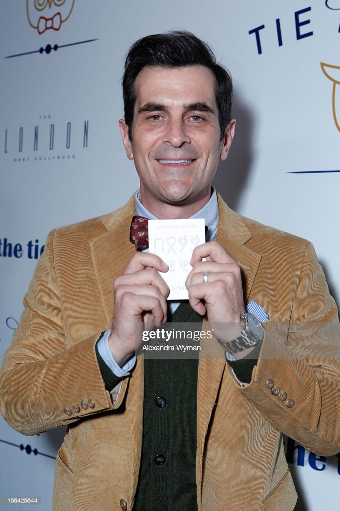 <a gi-track='captionPersonalityLinkClicked' href=/galleries/search?phrase=Ty+Burrell&family=editorial&specificpeople=700077 ng-click='$event.stopPropagation()'>Ty Burrell</a> at the launch of Tie The Knot, a charity benefitting marriage equality through the sale of limited edition bowties available online at TheTieBar.com/JTF held at The London West Hollywood on November 14, 2012 in West Hollywood, California.