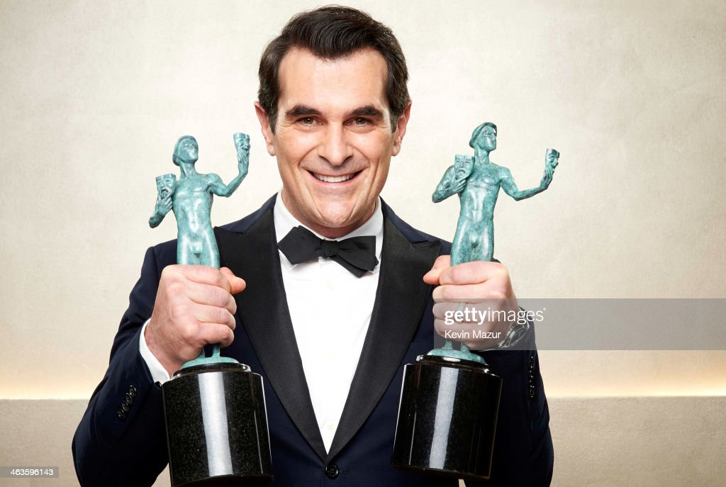 Ty Burrell poses at the 20th Annual Screen Actors Guild Awards at The Shrine Auditorium on January 18 2014 in Los Angeles California